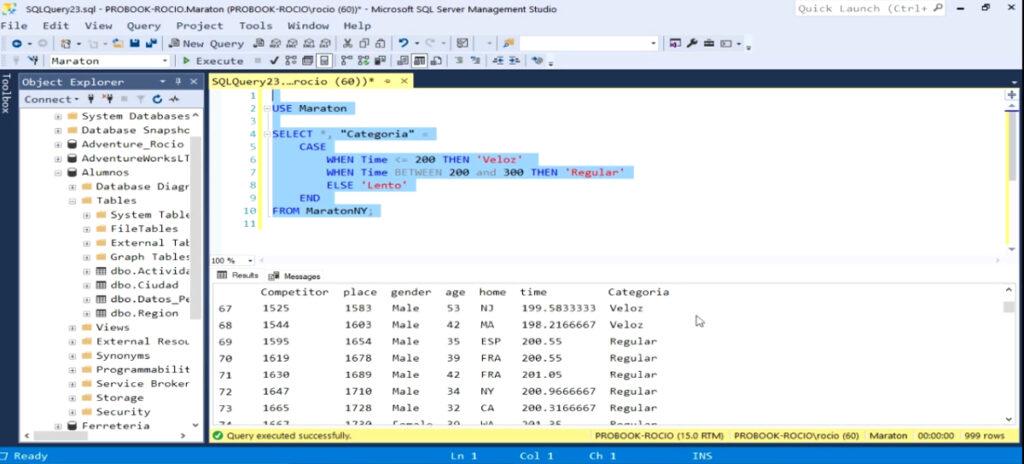 Categorizando Información Numérica con SQL