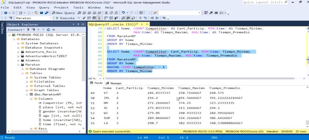 Sentencias Group By y Having en SQL