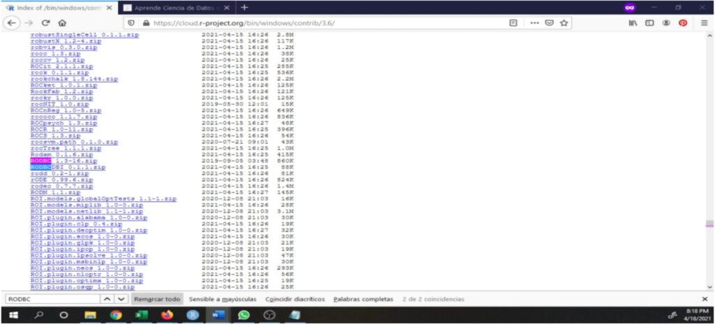 Instalando versiones anteriores de paquetes en R